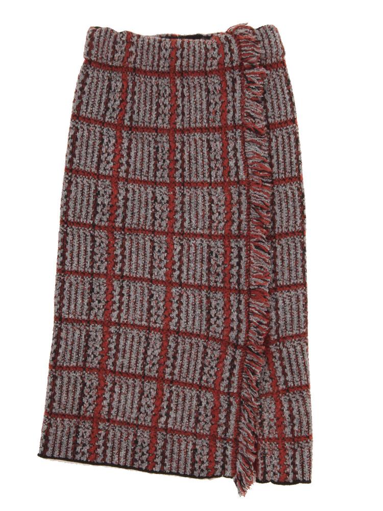 LAGUNAMOON チェックジャカードリブニットスカート